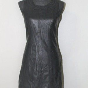 FREE PEOPLE faux leather a-line dress si